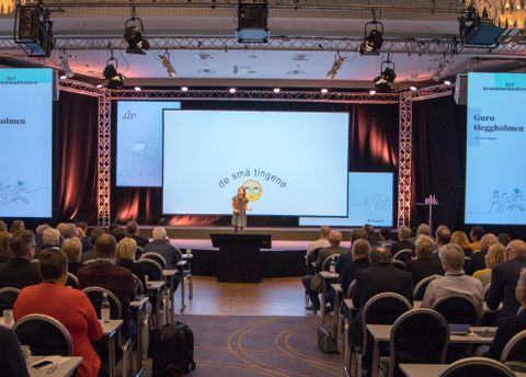 TRONDHEIM: Guro holdt tale i Trondheim (på KLP sin konferanse om kommunene i Norge).