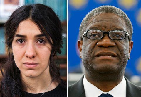Nadia Murad og Denis Mukwege får fredsprisen for 2018.