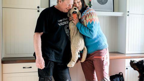 Bare bamsen er igjen etter at sønnen til Silje Røllheim Smedsrud og Geir Smedsrud flyttet ut.