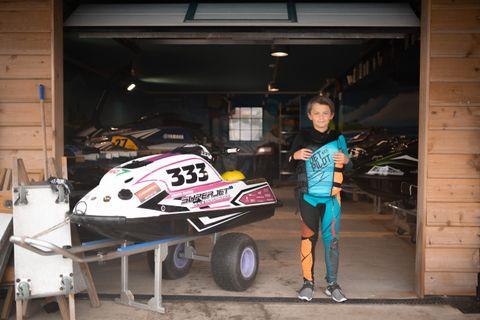 SKAL BLI BEST: Målet til Theodor (12) er å bli verdensmester.