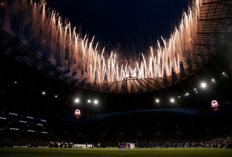 Åpningen av den nye arenaen ble feiret med fyrverkeri og fest og seier 2–0 mot Crystal Palace.