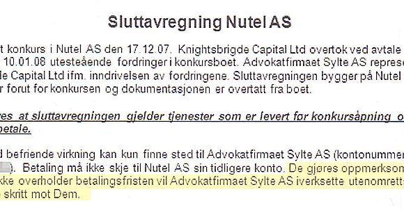 """33ca24c2 Frode Kolaas fra Oslo fikk denne regningen fra Advokatfirmaet Sylte, der  det sto """"De gjøres oppmerksom på at dersom De ikke overholder  betalingsfristen ..."""