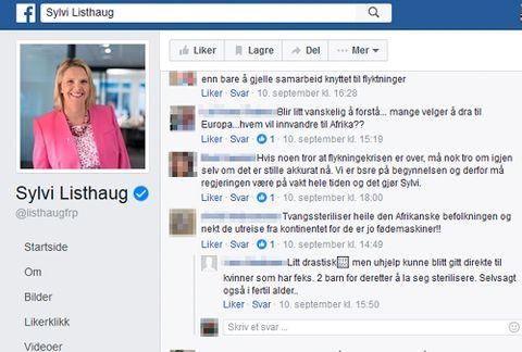 Uhyggelig hatprat på statsråders Facebook-sider