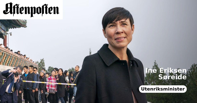 Ine Eriksen Søreide - Aftenposten