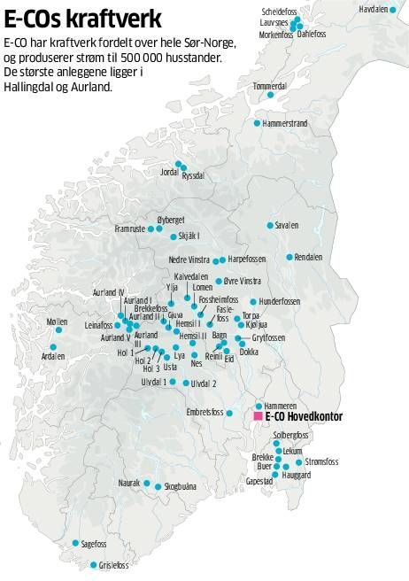 kart over vannkraftverk i norge Oslo tjener milliarder på vannkraft   Aftenposten kart over vannkraftverk i norge