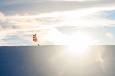 Vind i skiseilet gir deg en fantastisk fartsopplevelse.