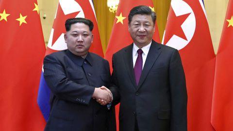 I KINA: Nord-Koreas leder Kim Jong-un reiste denne uken til Kina og møtte president Xi Jinping. Dette er Kims første utenlandsreise siden han tok over som landets leder i 2011.