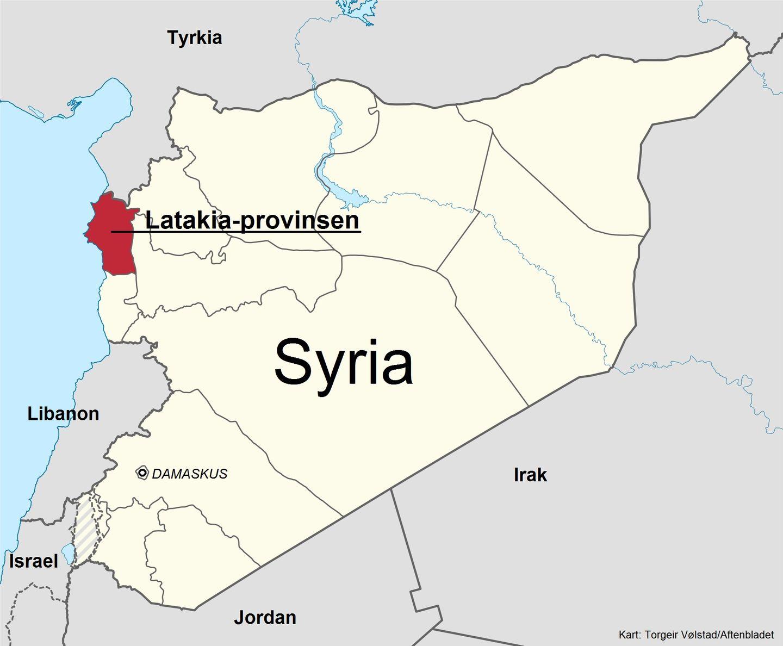 syria kart Putins trekker sin røde linje i Syria   Stavanger Aftenblad