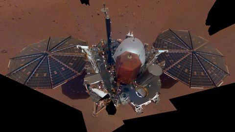 ROMFARTØY: Slik ser teknologien «InSight», som skal finne ut hva som skjer inne i Mars ut.