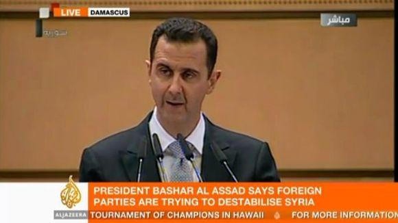 a8eec6b6 Syrias president: - Opprøret har skapt et stort arr i hjertet mitt ...