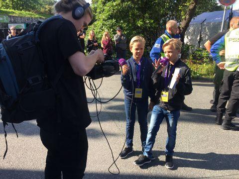 SPENNENDE: Håvard og Vegard (11) intervjuet Marcus og Martinus. Lenke til intervjuet ligger under.