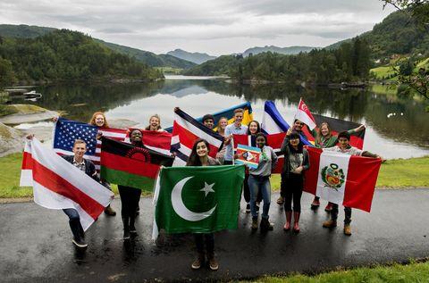 INTERNASJONALEN: 95 ulike nasjonar er representerte på UWC dette skuleåret. Her er eit lite utval.