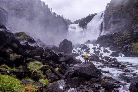NYASTØLFOSSEN: Fire store vannfall ligger som perler på en snor gjennom Husedalen.