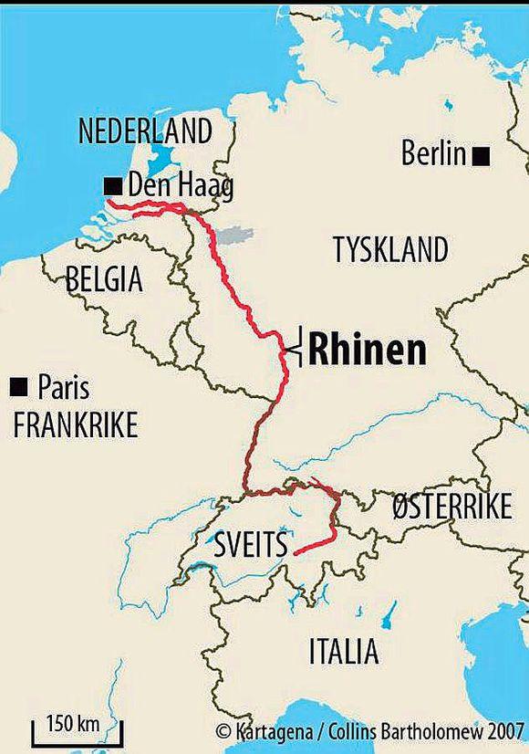 rhinen kart Rhinen blir 90 km kortere   Aftenposten