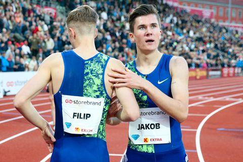 Jakob Ingebrigtsen ble nummer seks på Drømmemila under Bislett Games.