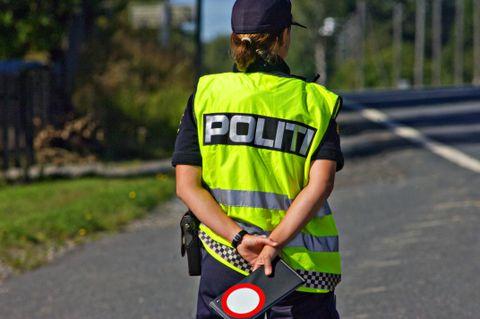 POLITIPULS: Pulsen stiger når BTs mann stanses av politiet.