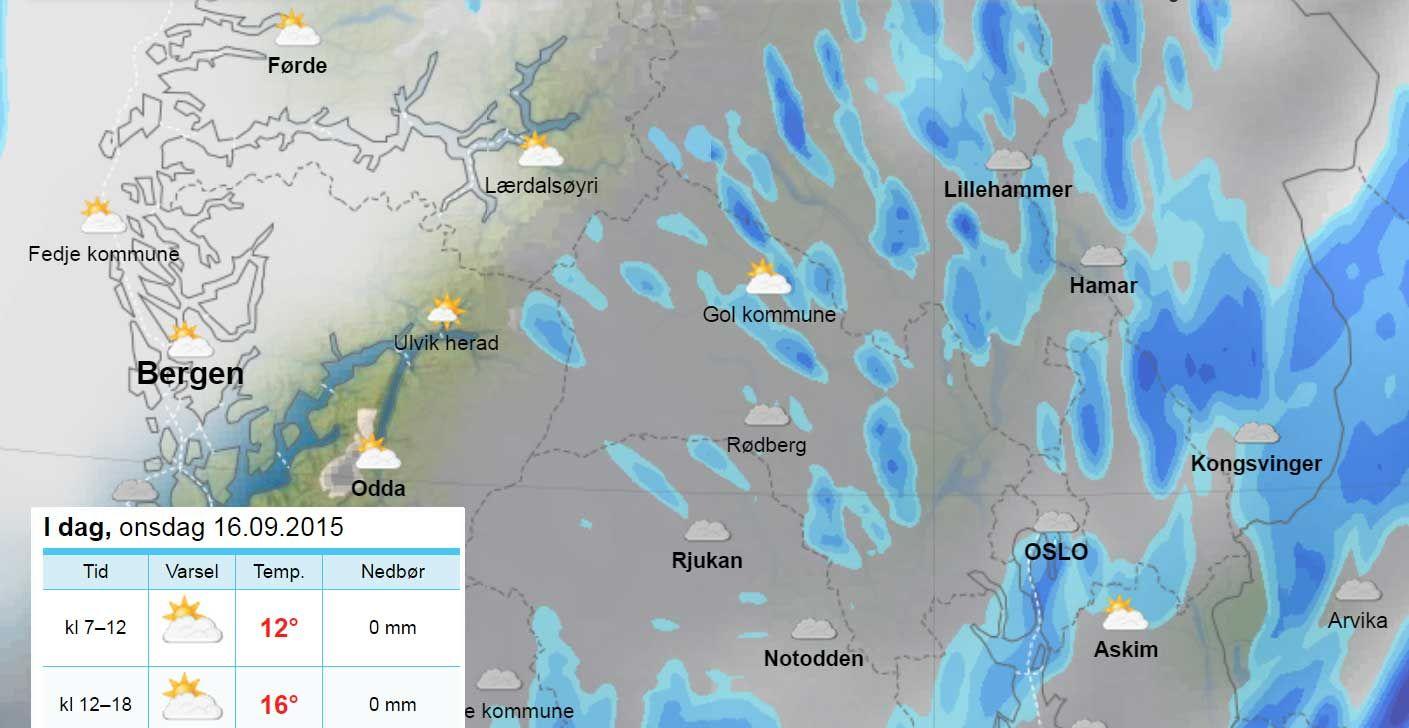 Mens Petra herjer, får Bergen sol og null nedbør