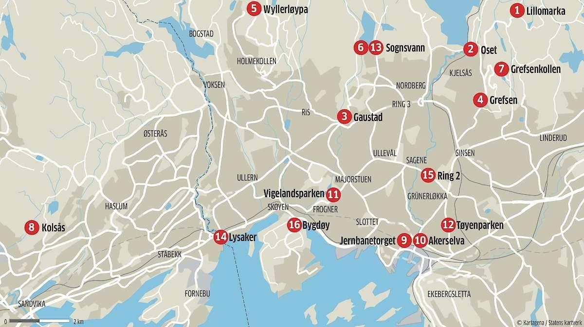 bånntjern oslo kart 16 løpeturer du bør prøve i Oslo   Aftenposten bånntjern oslo kart