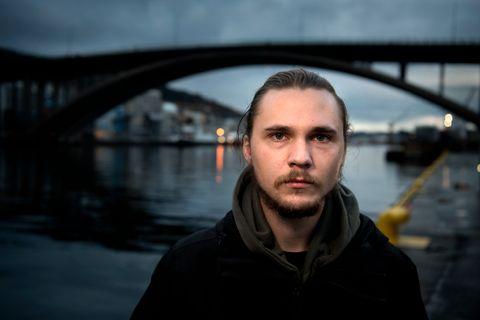 KAN HA REDDA LIV: Politiet meiner 23 år gamle Bjørn Magne Sørbø kan ha vore med på å redde livet til mannen på Puddefjordsbroen.