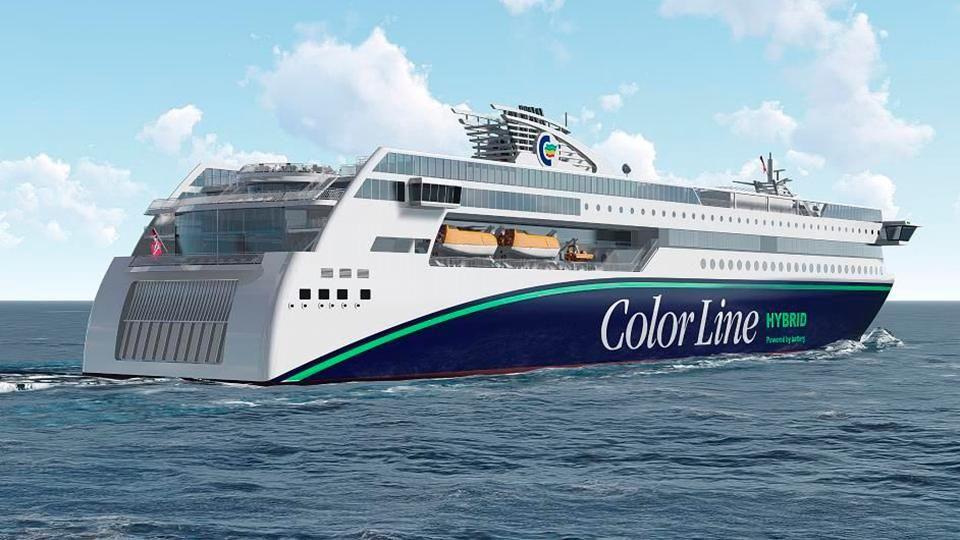 Colour Line Art Design : Color line bygger verdens største hybridskip skal seile