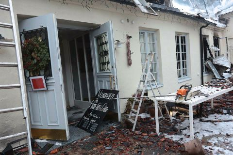 Restaurant og kjøkken er borte - Aftenposten