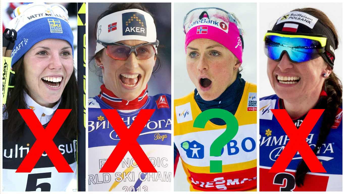 2101b9a1 Tour de Ski kan gå uten fire av de aller største stjernene: Charlotte Kalla  (fra venstre), Marit Bjørgen, Therese Johaug og Justyna Kowalczyk NTB  SCANPIX