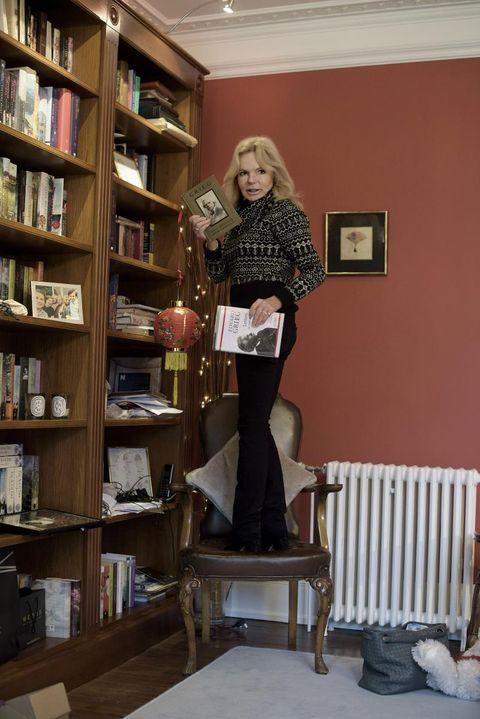 På kontoret: Lucinda Riley heime i Norfolk.