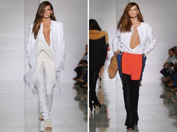 f7cc0512 Kanye har to ganger designet en egen kleskolleksjon for kvinner, her fra  moteuken i Paris våren 2012.