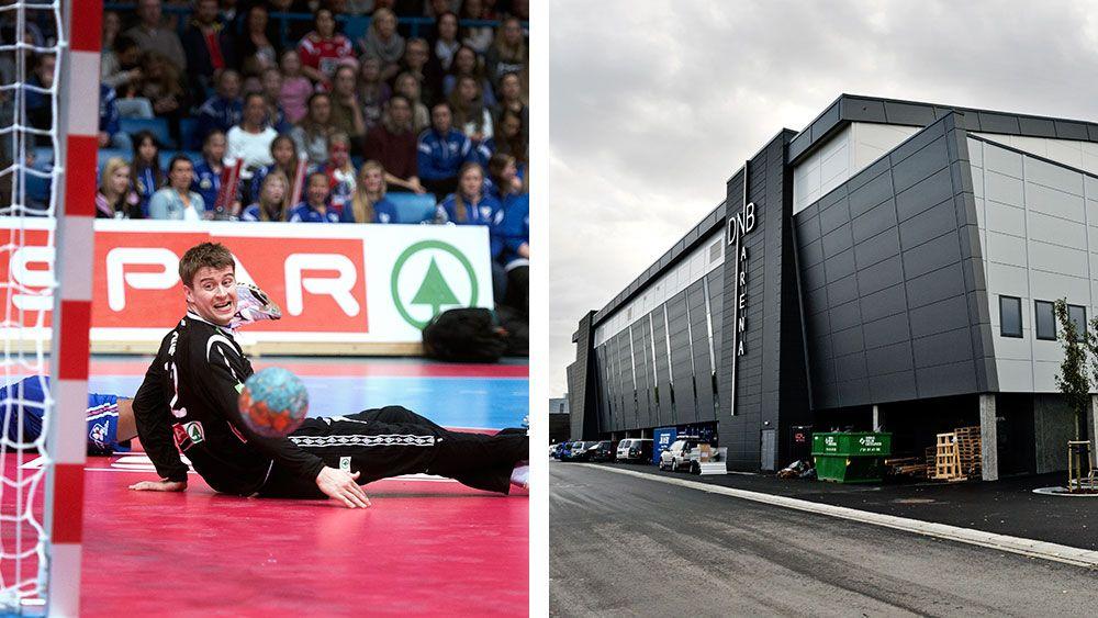 f0931f6d Breddeklubbene mister viktige inntekter og færre tilskuere får plass når  håndballandskampen legges til DNB Arena. Til venstre Norges keeper Ole  Erevik i en ...