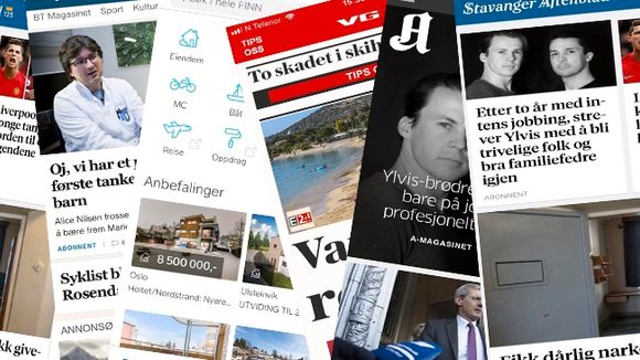 65e6726f MEDIESELSKP: Schibsted eier blant annet Bergens Tidende, Stavanger Aftenblad,  Aftenposten, VG og tjenesten finn.no. FOTO: Collage/Rolf Øhman