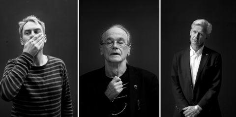 Musiker Julian Berntzen, skribent Andreas Hompland og generalsekretær i flyktninghjelpen Jan Egeland er alle glad i poesi.