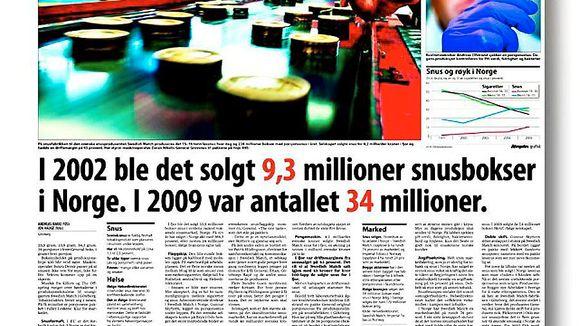 598a7ad9 Krever snusfornuft fra Aftenposten - Aftenposten