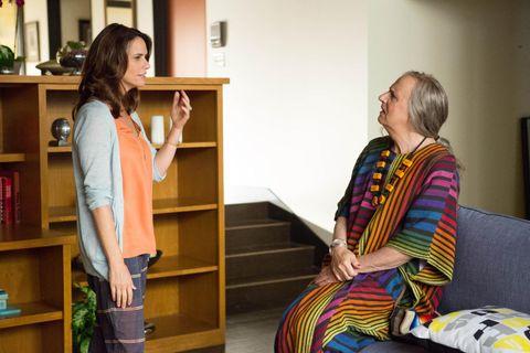 DOBBELTVINNER: Serien «Transparent» vant i januar Golden Globe for beste TV-komedie. Jeffrey Tambor, som spiller transseksuelle Maura Pfeffermann (til h.), ble kåret til beste skuespiller i samme kategori.