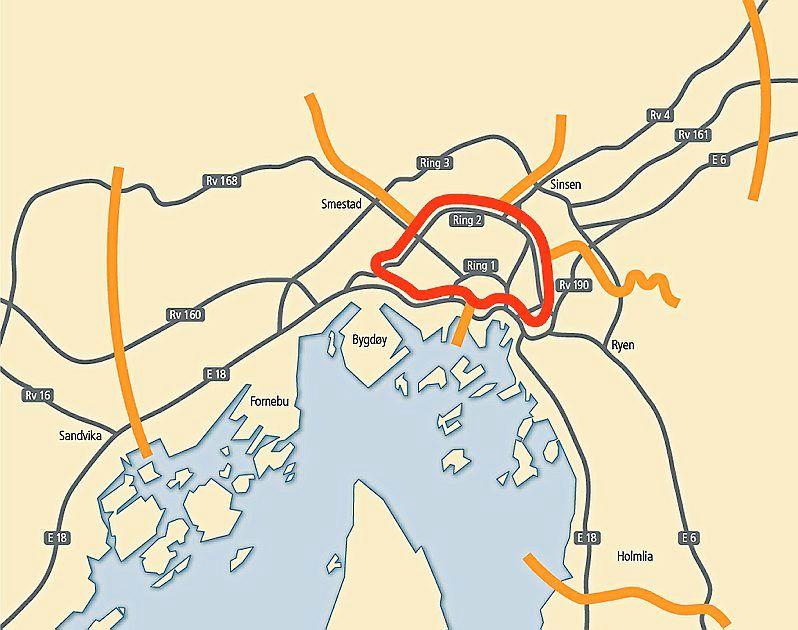 bomring oslo kart Her kan det komme nye bomstasjoner   Aftenposten bomring oslo kart