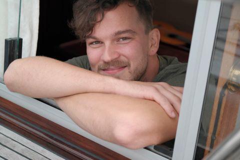 Ivan Alexander Reigstad liker seg best i båt.