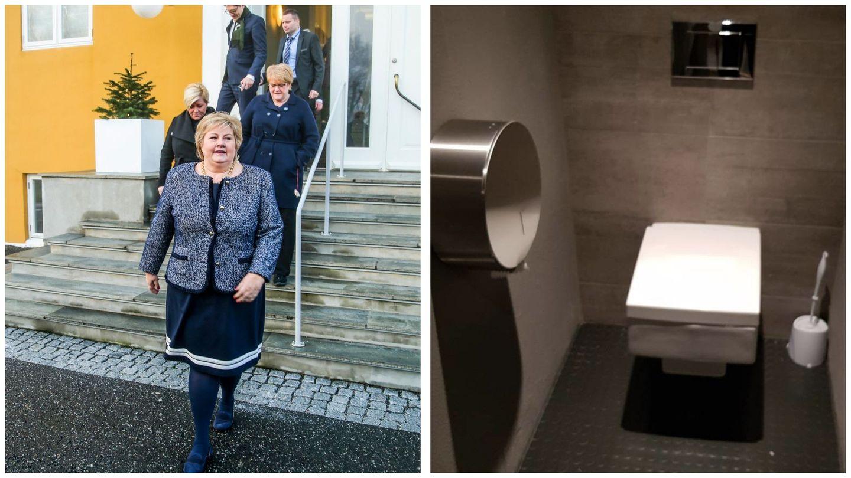 Regjeringsforhandlingene: Det lekkes fra toalettet på Jeløy