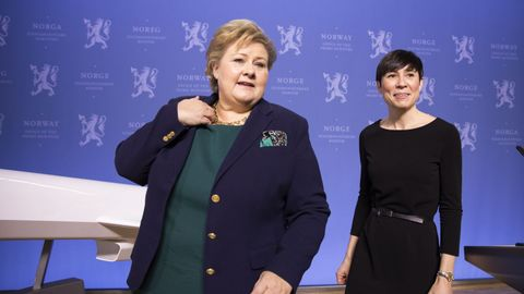 MØTER TOPPLAG: Statsminister Erna Solberg (H) og utenriksminister Ine Eriksen Søreide (H) møter et veritabelt topplag av amerikanske politikere under USA-besøket denne uka.