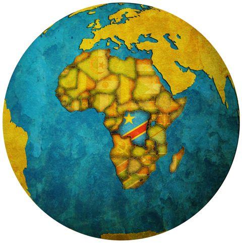 AFRIKA: Den demokratiske republikken Kongo ligger i Afrika.