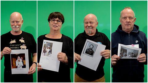 VETERANER: Fra v. Leif Pareli, Ellen Mortensen, Rolf Monsen og Thorleif Pedersen.