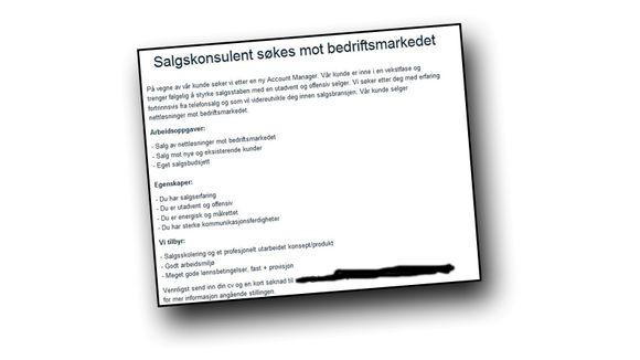 b05092c4a Én av tre jobbannonser umulige å forstå - Aftenposten