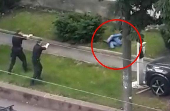 politiet skjøt etter gjentatte advarsler
