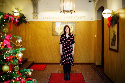 Sofie Høgestøl (31) gikk i fakkeltog for fredsprisvinnere da hun var liten. Nå får hun kanskje være med på å dele ut prisen.