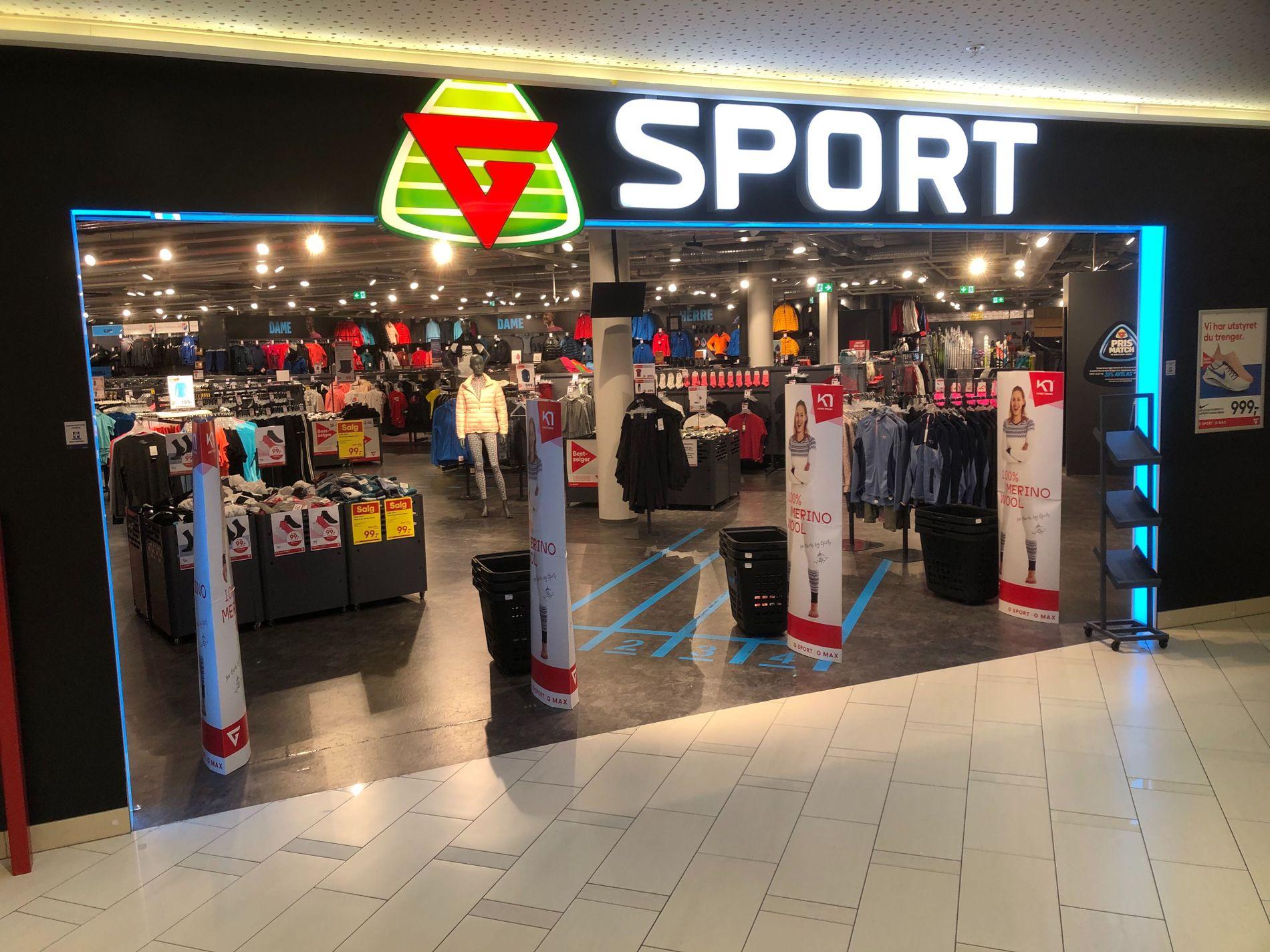 G sport på Sartor storsenter avvikles som følge av konkurs