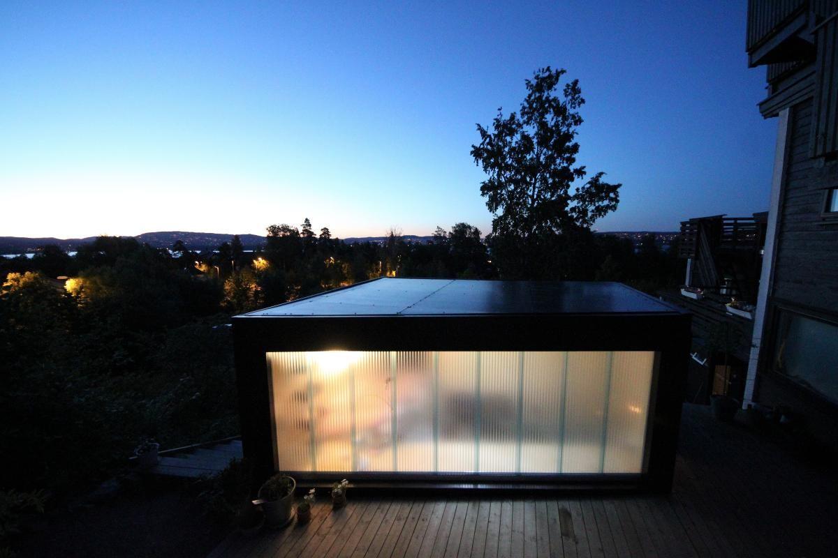 Bygget anneks i hagen: Som et avansert telt veldig nært hjemmet