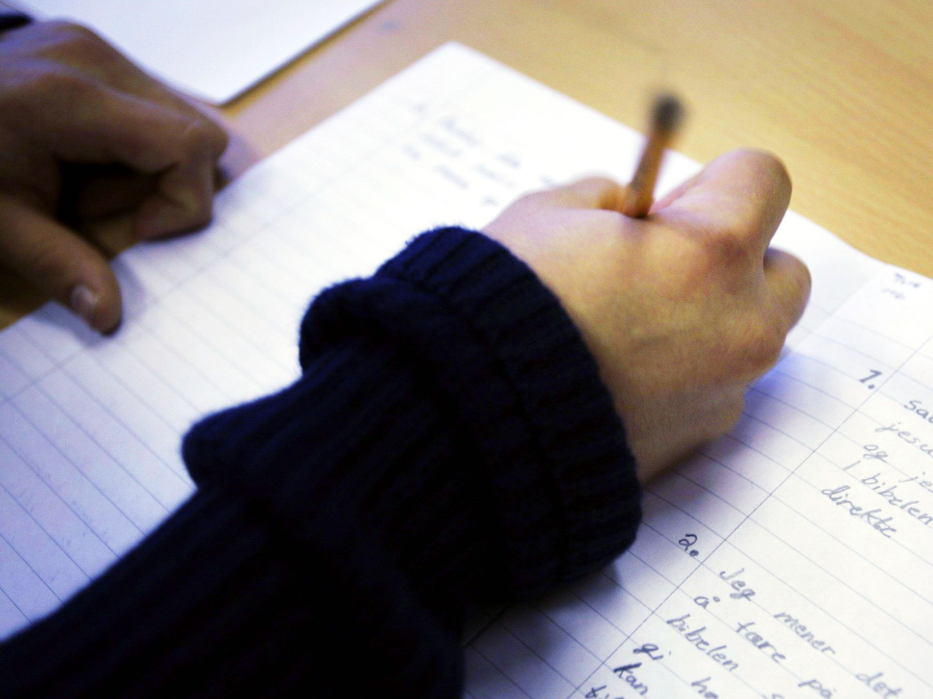 Lærer mer av å skrive for hånd Innenriks