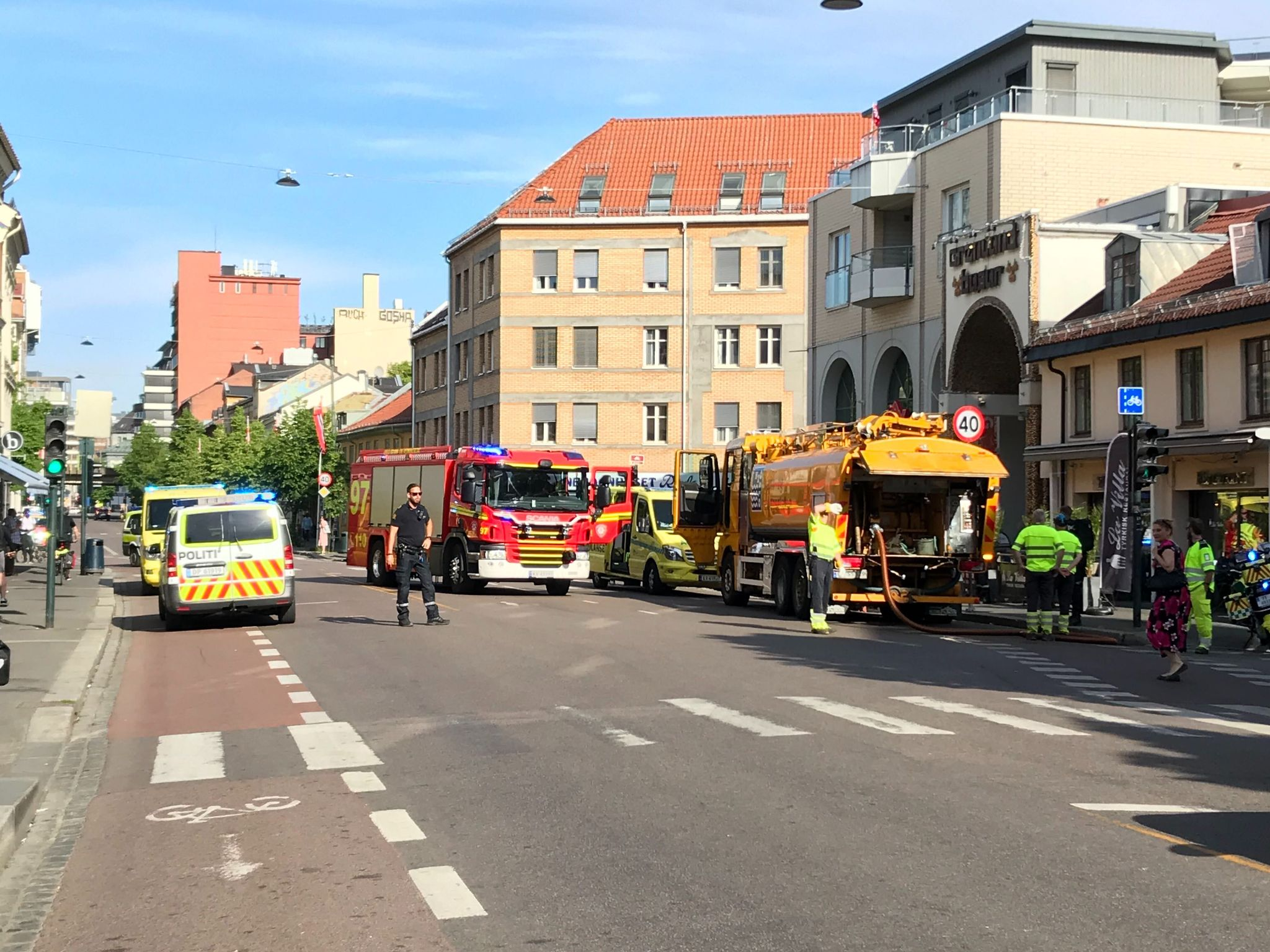 Syklist alvorlig skadet i ulykke på Grønland i Oslo