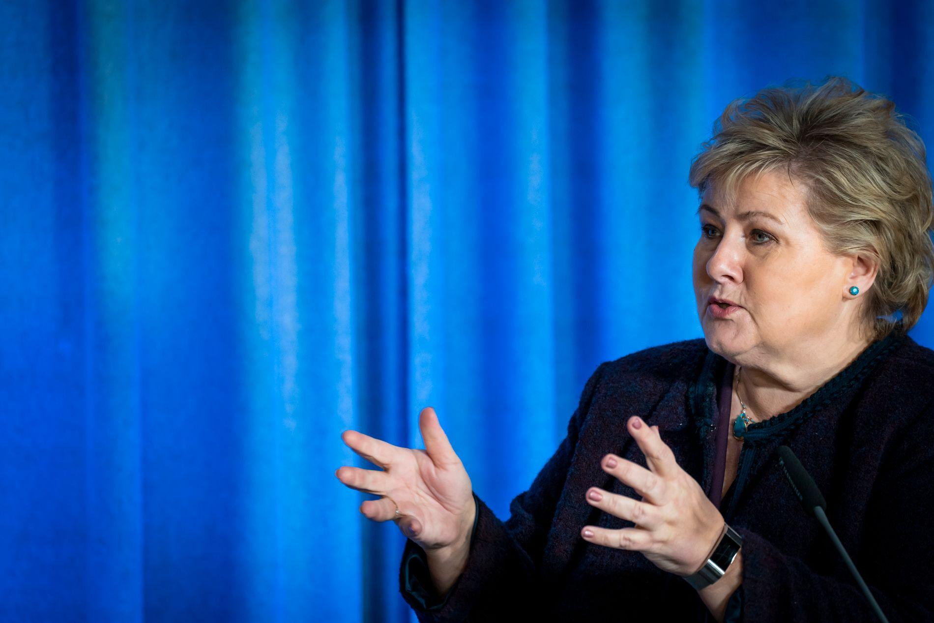 Erna Solberg Glad For A Ha Oljefondet I Krisen Vi Er I En Veldig Gunstig Posisjon