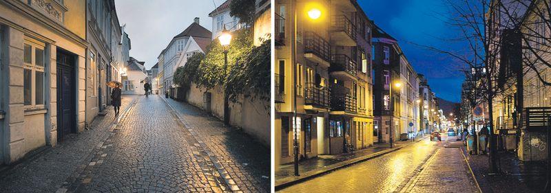 belysning på gaten