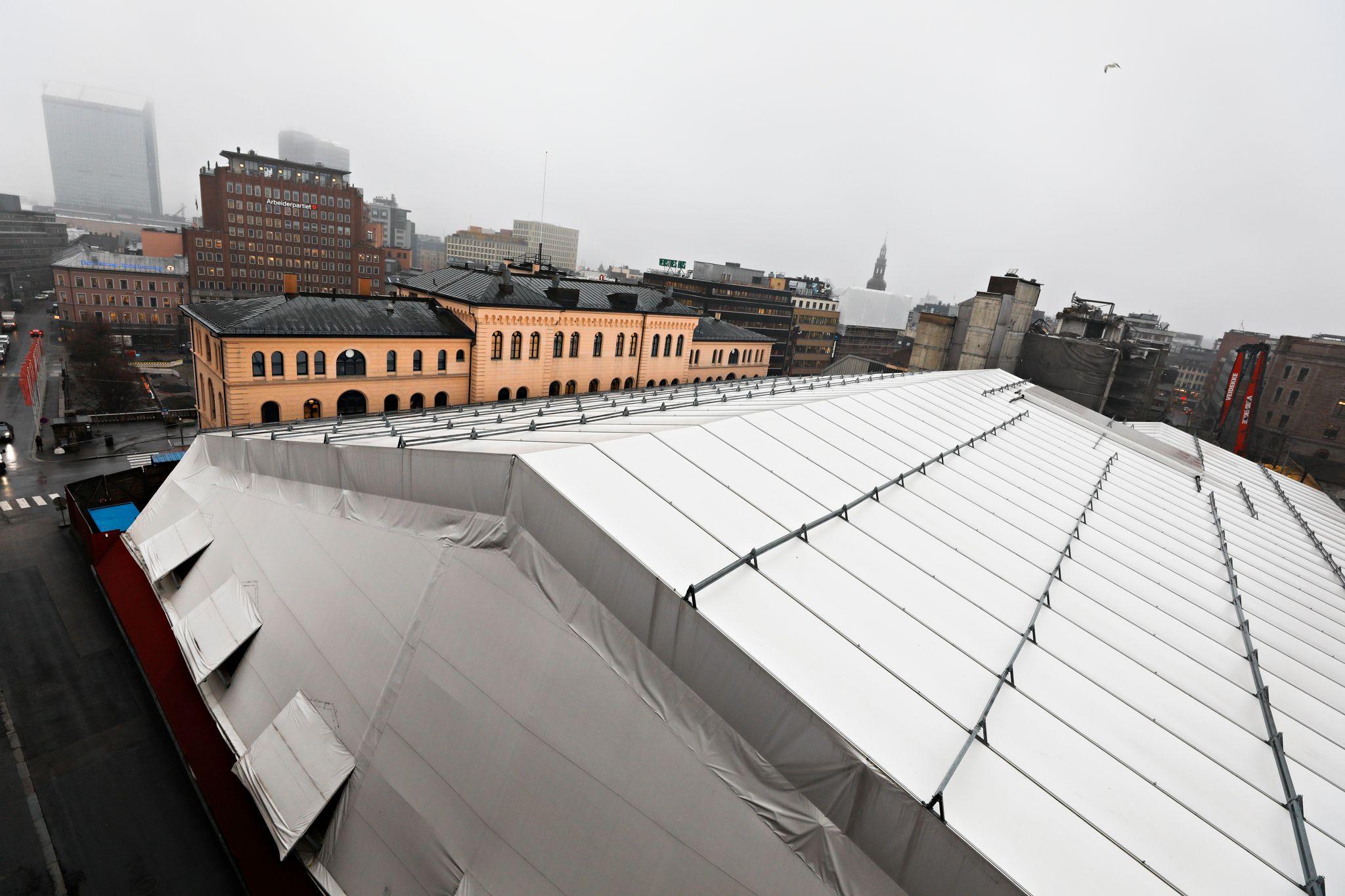 Arbeidet under gigantteltet i Oslo sentrum har kostet 2,1