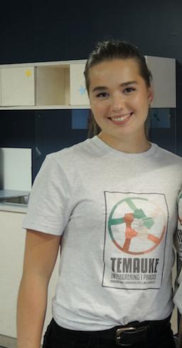 Amanda Hylland Spjeldnæs (18), elevrådsleder på Elvebakken vgs